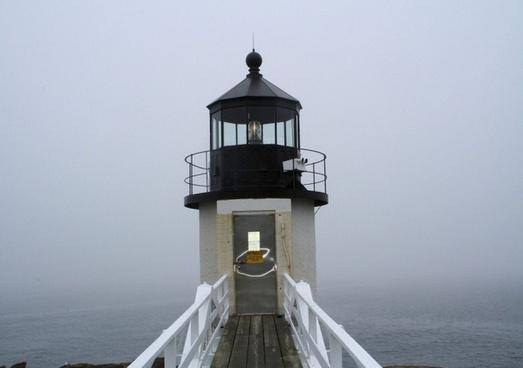 closeup of lighthouse