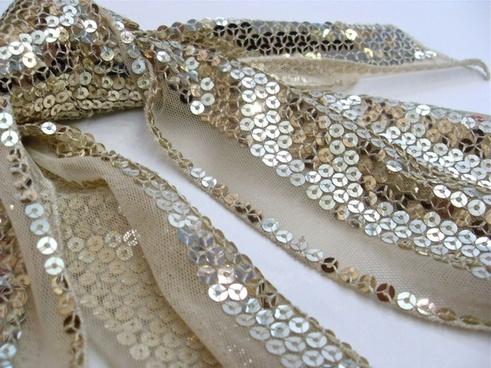 closeup sequins