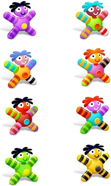 Cloth Dolls Icons icons pack