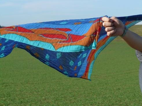 cloth scarf wind