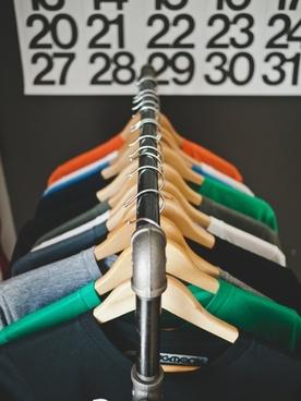clothes clothing hanger metal shop store tshirt
