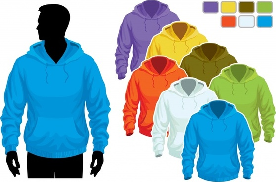 clothes hoodie template vector