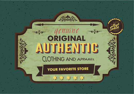 clothes shop signboard design in vintage style
