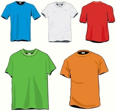 clothes template 20 vector