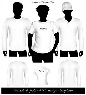clothes template design vector