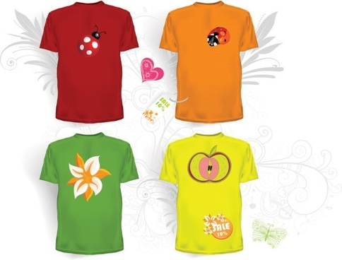 clothes templates 05 vector