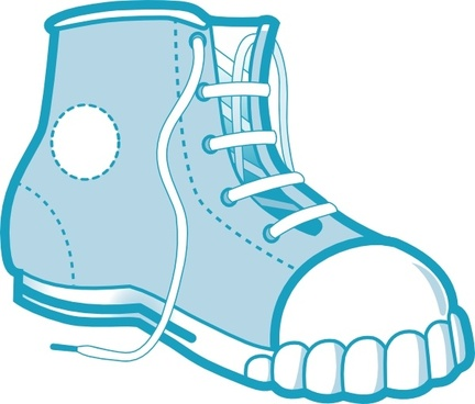 Clothing Blue Boot clip art