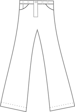 Clothing Pants Outline clip art