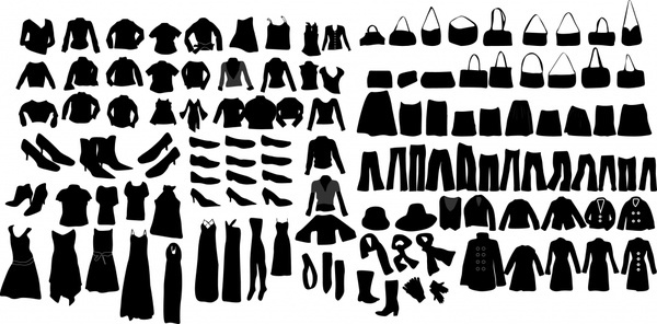 clothing silhouettes vector