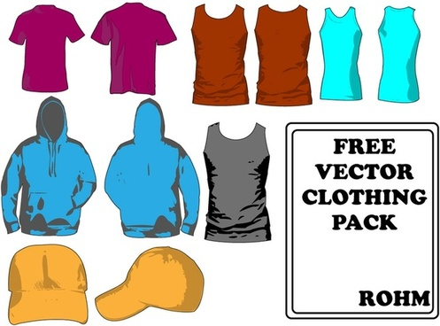 Clothing templates pack