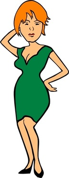 Clothing Woman In Business Attire clip art