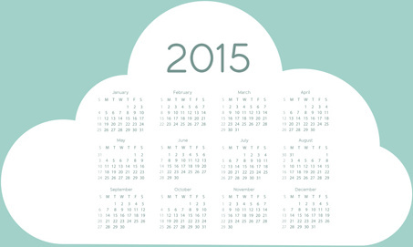 cloud15 calendar vector graphic