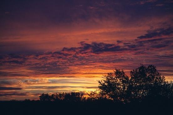cloud color contrast dawn dusk evening landscape