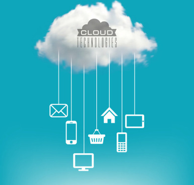 cloud concept elements vector graphic