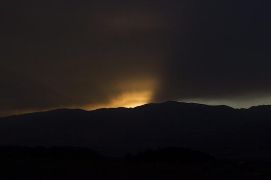 cloud dark eclipse evening landscape light lightning