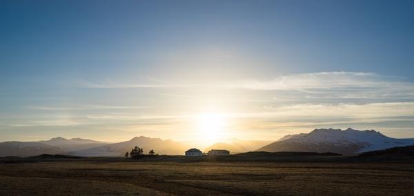 cloud dawn desert dusk evening farm field golden