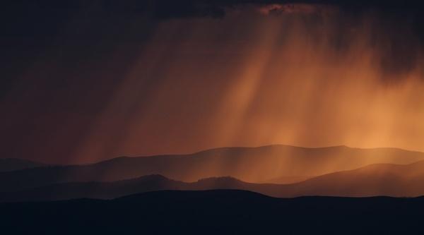 cloud dawn evening fog landscape light lightning