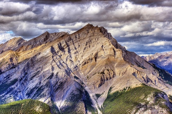 cloud environment geology high landscape mountain