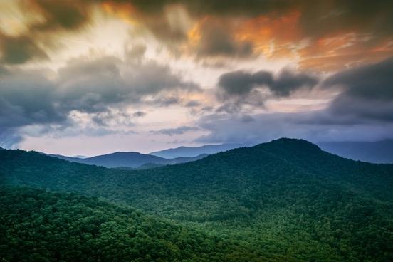 cloud evening fog hill landscape light mountain