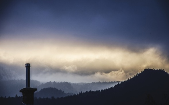 cloud evening fog landscape light morning mountain