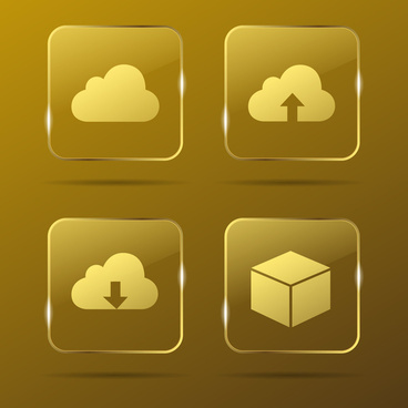 cloud gold buttons