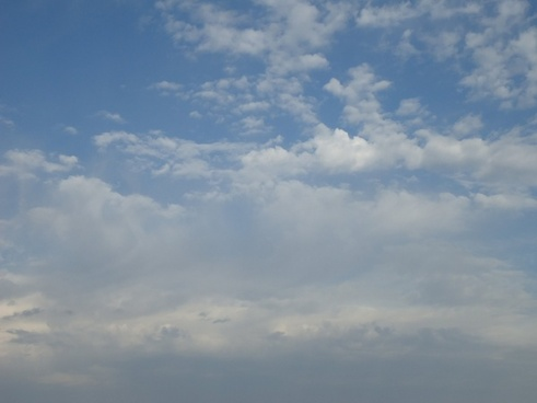 cloud patterns in partly cloudy sky