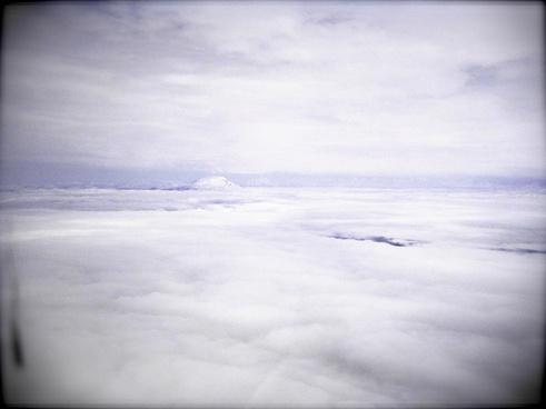 cloud sandwich through lomo lens