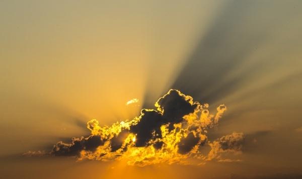 cloud sky yellow
