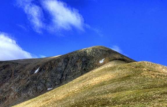clouds above the false peak at mount elbert colorado