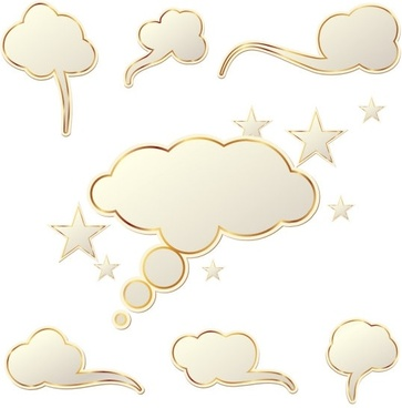 clouds dialog box vector