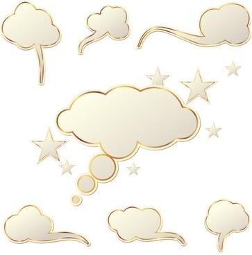 clouds dialog box vector
