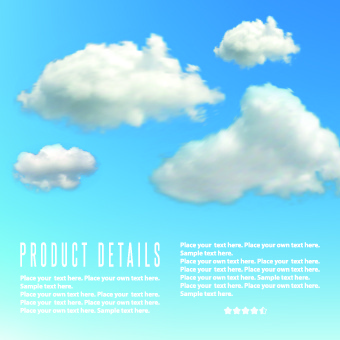 clouds elements vector background