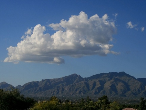 clouds over arizona mountains