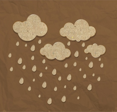 clouds rain background brown paper ornament