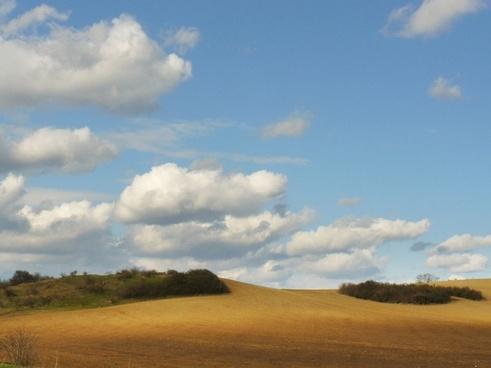 clouds sky fields