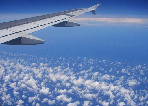 clouds sky plane