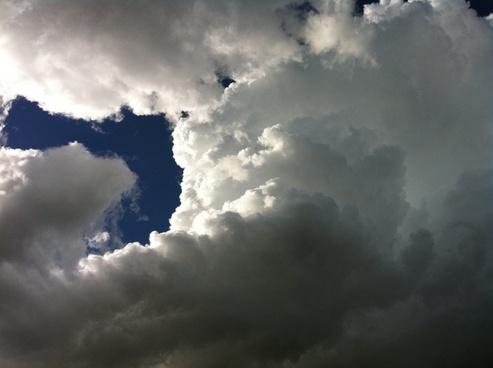 clouds sky storm
