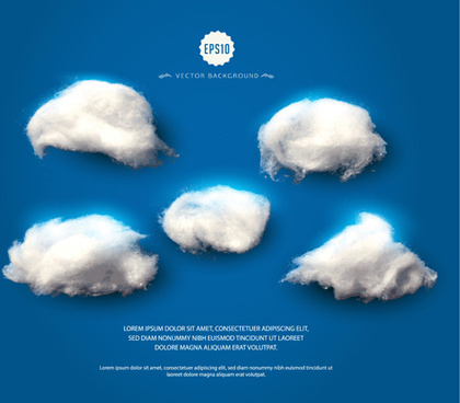 clouds with blue background vector