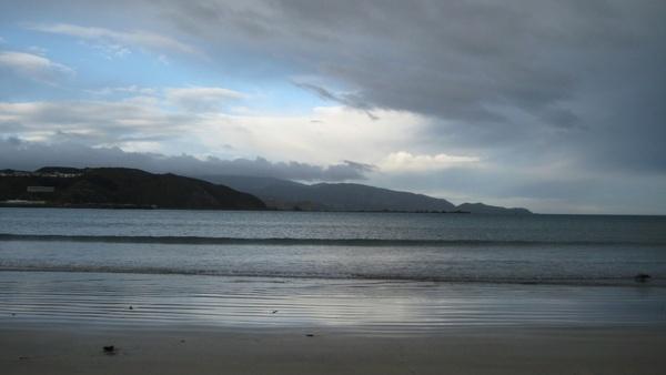 cloudy day on a calm beach