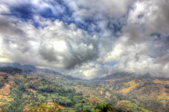 cloudy mountain landscape near haiti baptist mission