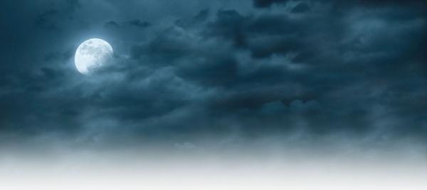 cloudy night moon