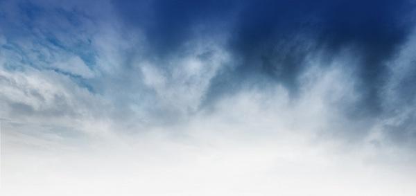 cloudy sky blue