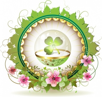 decorative background shiny colorful oriental bowl floral decor