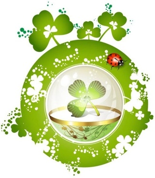clover beautiful background 05 vector