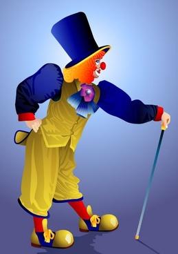 clown illustrator 01 vector