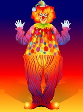 clown illustrator 02 vector