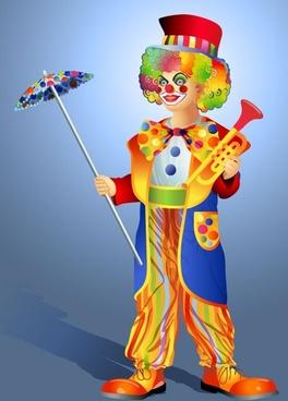 clown illustrator 03 vector