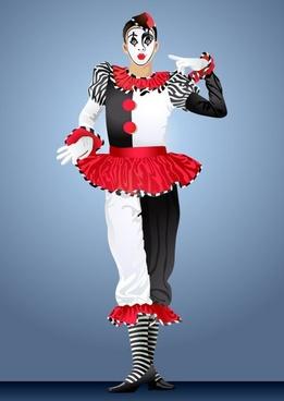 clown illustrator 04 vector