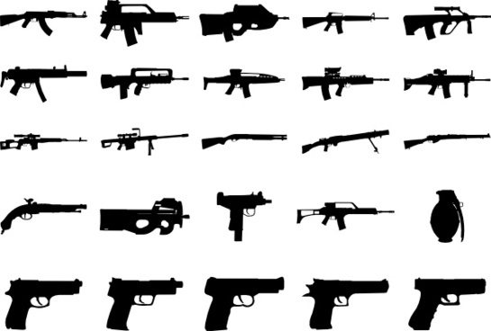 Clue Guns Pack clip art
