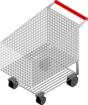 CM Isometric Shopping Cart Empty